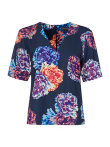 Pied a Terre Floral Print Top
