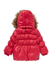 girls detachable fur hood padded jacket