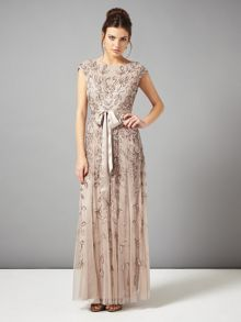 Guliana full length beaded lace dress