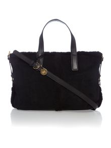 Black medium quin tote bag