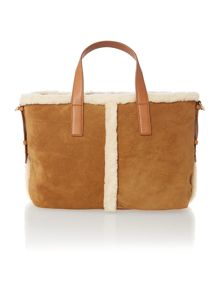 Brown medium quin tote bag