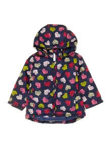 girls heart print jacket