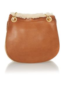 Brown small quin cross body bag