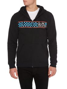 Hood zip fleece