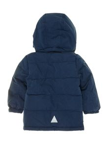 boys padded jacket with teddy fur hood
