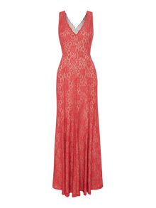 Eliza J Sleeveless all over lace dress