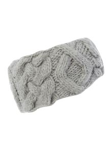 Cable knit headwarmer