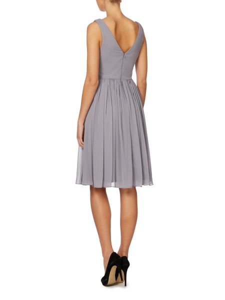 Eliza J Sleeveless pleated waist dress