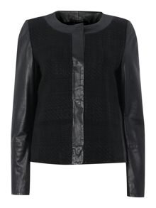 Enea leather cropped jacket