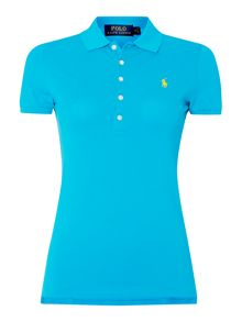 Short sleeved polo top