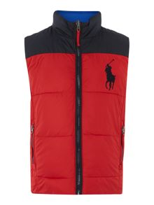 Boys reversible padded gilet