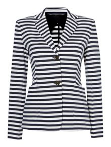 Elica striped blazer