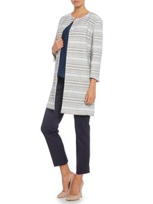 Esturia boucle stripe long jacket