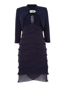 Eliza J Shutter dress with jacket