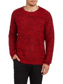 Textured knitted crewneck