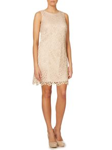 Sleeveless lace shift