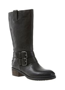 Black Maddy Buckle Boot