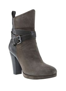 Smoke Erin Leather & Suede Strap Boot