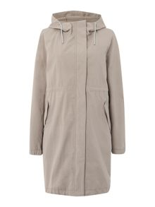 Foscari parka with hood and removable lining