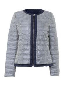 Agito stripey padded jacket