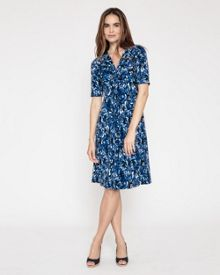 Brushstroke Jersey Dress