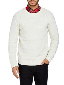 Bellfield Aztec Jaquard ribbed knit