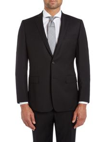 Hopsack contemporary suit jacket