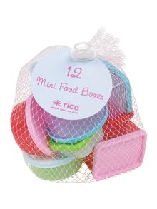 Rice small plastic food storage boxes