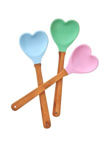 Heartshaped silicone kitchen spatulas