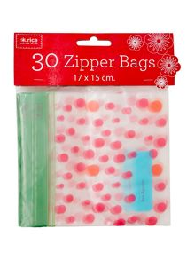 Rice Medium zipper plastic bags