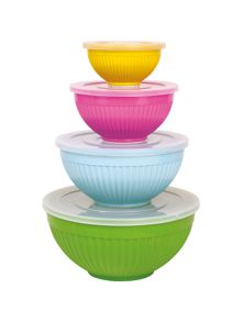 Rice Melamine bowls set of 4