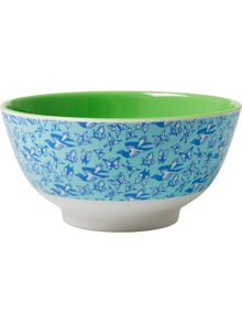 Rice melamine bowl two tone print