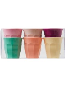 Rice 6 pack small melamine cups