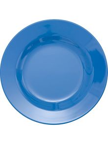 Melamine round plate solid colour