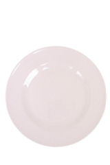 Rice Melamine round plate solid colour