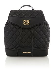 Black quilt back pack