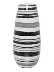 Monochrome Stripe Barrel Vase