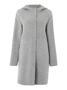 Celia double face hooded coat
