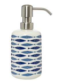 Linea Fish ceramic soap dispenser