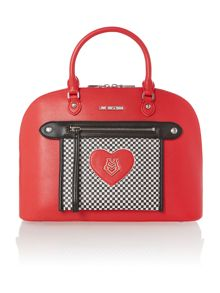 Red check heart exclusive dome bag