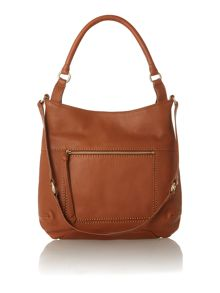 Berkeley tan large scoop leather hobo bag