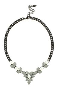 Vita Grey Faceted Necklace