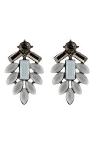 Vita Grey Faceted Earring