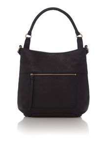 Berkeley navy large scoop leather hobo bag