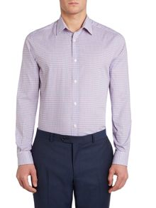 Zetico two colour check cotton shirt