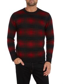Large check knit