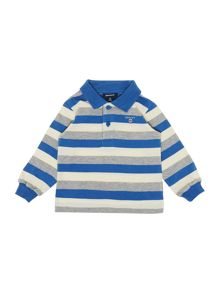 Long sleeved striped rugby