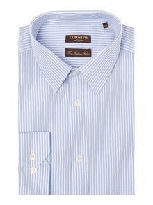 Eros end on end stripe cotton shirt