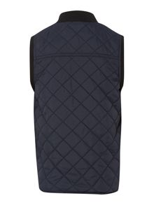 Boys quilted gilet with contrast zip