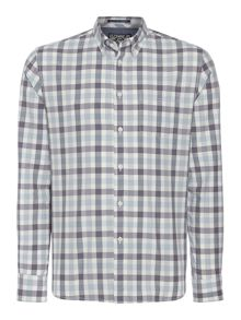 Criminal Eli Gingham Long Sleeved Check Shirt